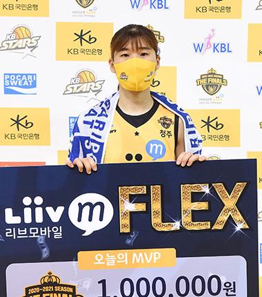 [대표 이미지] KB스타즈 김민정, Liiv M FLEX(리브모바일 플렉스) 선정