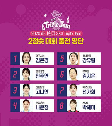 [대표 이미지] 나윤정, 김지은 등 트리플잼 2차대회 2점슛 콘테스트 참가