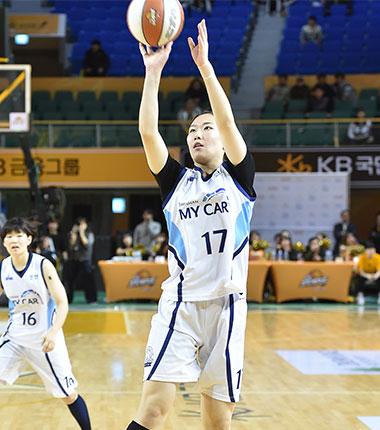 [대표 이미지] 박혜미, 용인 삼성생명 블루밍스 소속으로 WKBL 코르 복귀