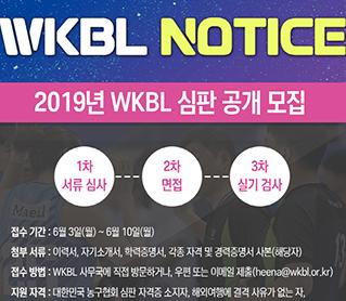 [대표 이미지] 2019년 WKBL 심판 공개 모집