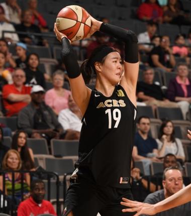 WNBA 박지수 '1리바운드', 소속 팀 라스베이거스는 4연승